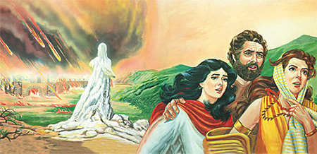 Lot's wife. Pausing to look back at the spectacle of God destroying entire cities, including her own residence and all her possessions, in a massive conflagration of fire and brimstone.
